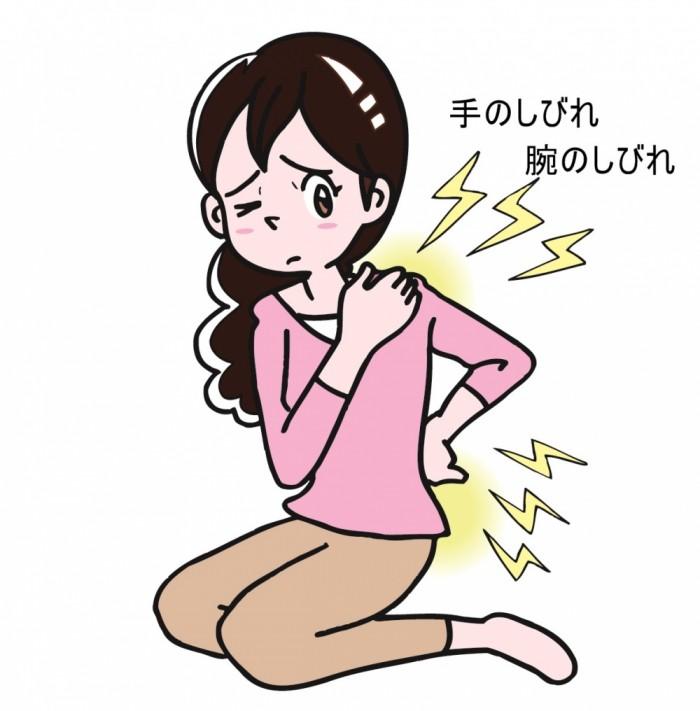 手のしびれ 腕のしびれ 頚椎症